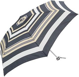 because(ビコーズ) レディース おしゃれでかわいい リズムボーダー ミニ 50cm 折りたたみ傘