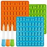 Senhai [Neu] Bear Candy Silikonformen Eiswürfelbehälter mit 3 Tropfen, 3 Pack Gumdrop Formen für...