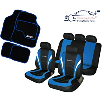 XtremeAuto/© FRONT HI BACK BLACK HEAVY DUTY SEAT COVERS FOR PEUGEOT BIPPER