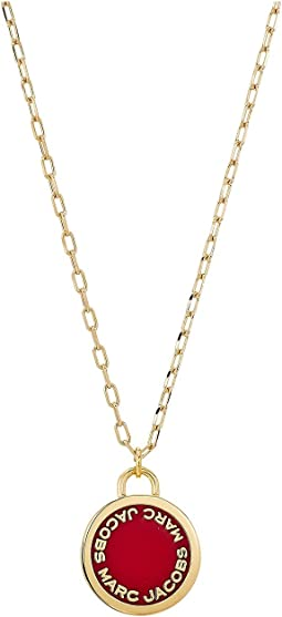 Marc Jacobs - Logo Disc Enamel Logo Disc Pendant Necklace