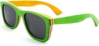 Handmade Polarized Wood Sunglasses Skateboard Wooden Sun Glasses UV400 Protection-Z68004