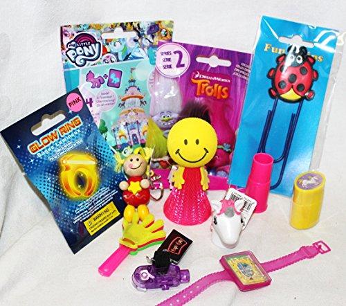 110102 12 Mitgebsel Geschenke für Mädchen auch Füllung für Adventskalender mit Schutzengel Blindbags Pony Glow Ring Jumper Einhorn