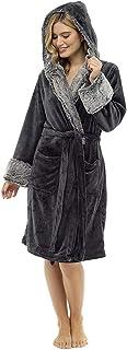 comprar comparacion CityComfort Bata de Estar por Casa Mujer Invierno con Capucha, Ropa de Dormir Suave Material de Forro Polar, Batín Tejido ...