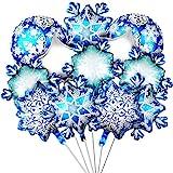 20 Piezas Globos de Papel de Aluminio de Copo de Nieve de Navidad Globos de Aluminio Estrella Brillante para Decoración de Fiesta Casa Invierno Fiesta Navidad Cumpleaños