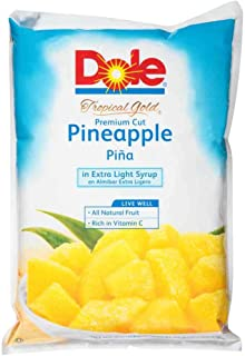 Dole Pineapple Chunks Fancy In Extra Light Syrup, 81. 12 Ounce -- 6 per case.