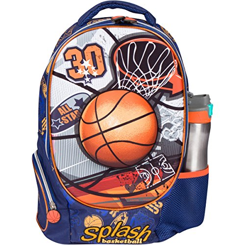 MB ALL STAR - Kids Backpack 3D Basketball Elementary School Book Bag for Boys