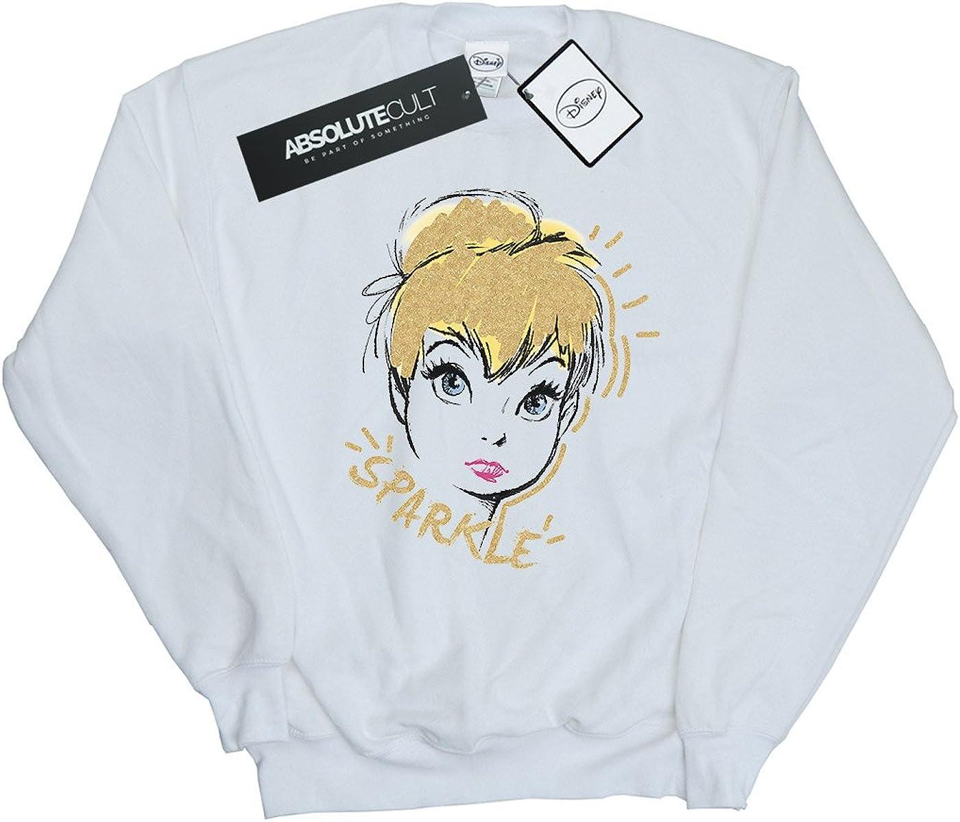 Disney Homme Tinkerbell Sparkle Sweat-Shirt Blanc