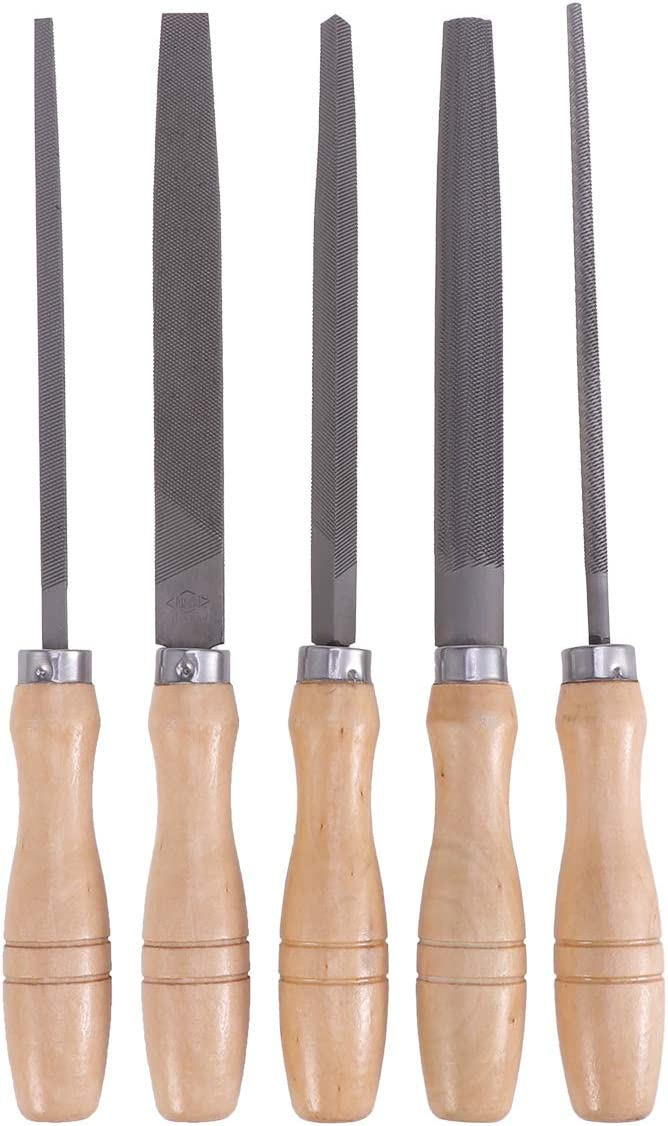 Yardwe 5pcs Outstanding 6inch SALENEW very popular High Carbon Steel with Handles File Wooden Set