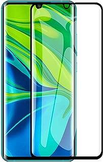Xiaomi Mi Note 10 /Mi Note 10 Pro/Xiaomi Mi CC9 Pro ガラスフィルム KAKUP 日本旭硝子製 液晶保護フィルム 3Dラウンドエッジ加工 9H硬度 高透過率 指紋防止 気泡ゼロ 防爆裂 スクラッチ防止 強化ガラス (ブラック)
