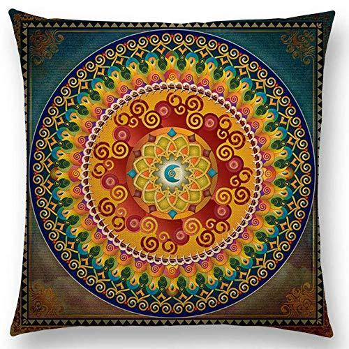 QPOWY Federa Bibbia Mandala Medio Oriente Armenia India Orientale Beatitudine Sole Luna Ararat Fiore Arabesque Divano Cuscino Federa