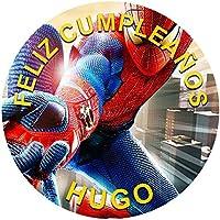 OBLEA de Papel de azúcar Personalizada, 19 cm, diseño de Spiderman