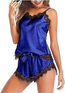 ملابس داخلية مثيرة للنساء من الدانتيل بيبي دول للنساء BT تريم مزود بفيونكة مائية مائية مائية للنساء لون أزرق ، المقاس: إكس...