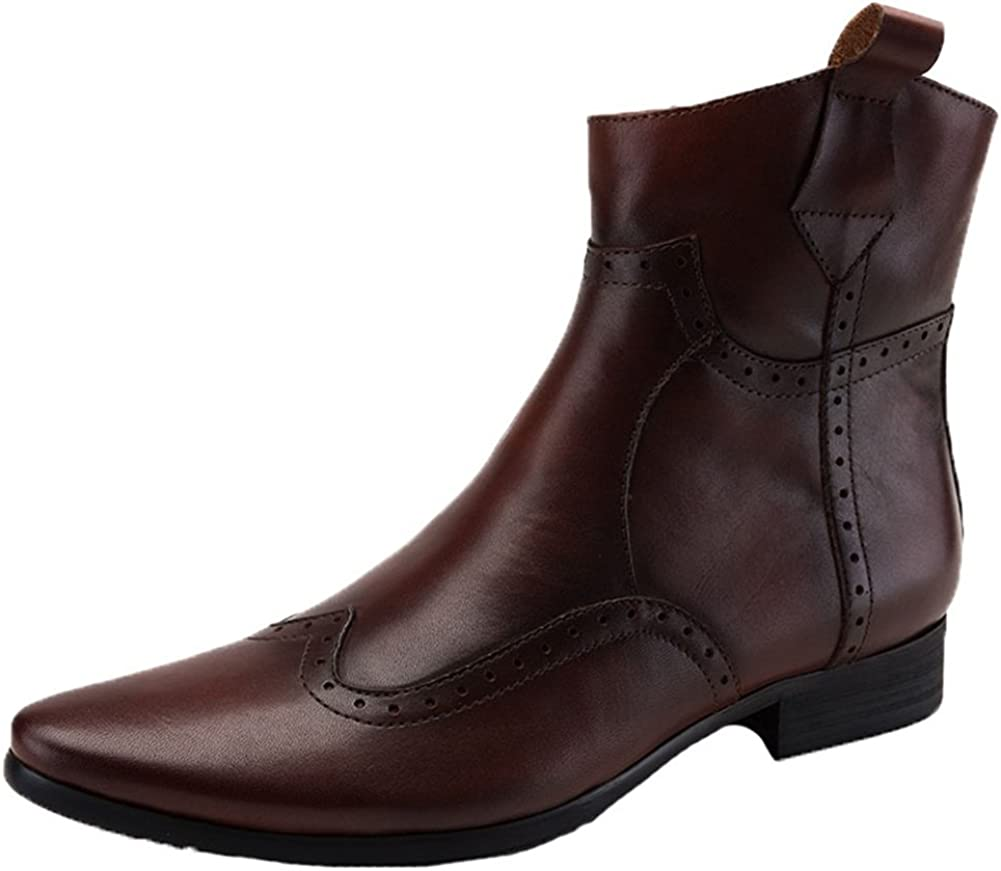 Santimon Men's Cowboy Boots Ranking TOP1 Leather Chelsea Western Wingtip 2021new shipping free shipping with