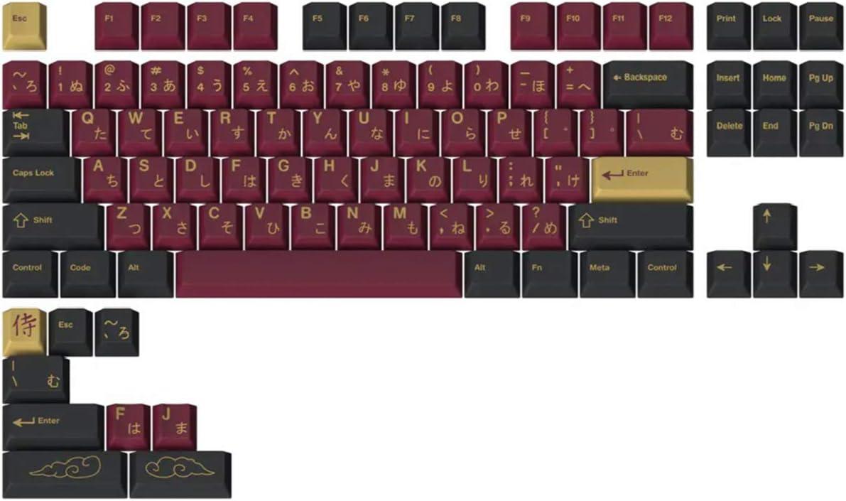 Drop + Redsuns GMK Red Samurai ABS Doubleshot Keycaps - TKL Kit