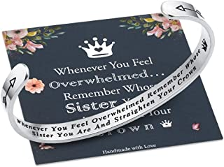 Whenever You Feel Overwhelmed Remember Whose Straighten Your Crown Bracelet, Engraved..