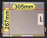Filtro de grasa de metal 305 x 267 para campana extractora, el original con la mejor calidad solo en la tienda online Krugels 10 capas de filtro.