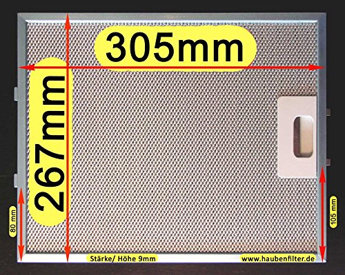 Metall-Fettfilter 305 x 267 für Dunstabzugshaube, Das Original mit der besseren Qualität nur bei