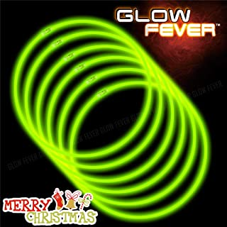 Glow Sticks Bulk 50ct 22'' Glow Necklaces with Connectors, for Party Festivals Raves Birthday Wedding, Green