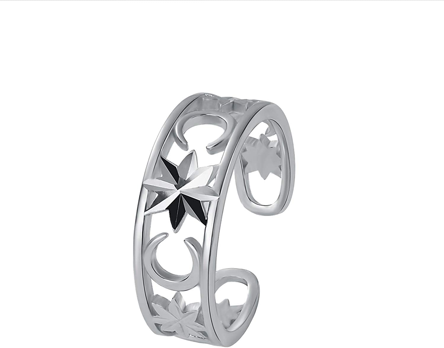VIKI LYNN Toe Max 65% OFF Rings for Women Topics on TV 925 Silver Ope Sterling Adjustable