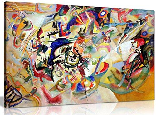 Komposition VII von Wassily Kandinsky auf Leinwand, Wandbild, Kunstdruck, A0 91x61cm (36x24in)