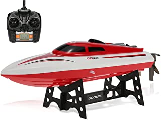 GoolRC GC002 Remote Control Boat 2.4GHz 20km/h High Speed Electric 180 Degree Flipping RC Racing Boat Perfect Toy Pools Lakes