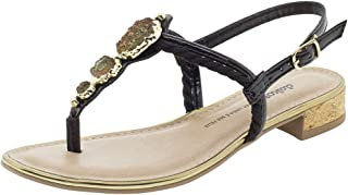 Sandália Feminina Salto Baixo Dakota - Z4222 Preto