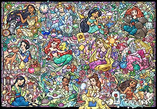 1000ピース ジグソーパズル ディズニープリンセス コレクション ステンドグラス 【ステンドアート】(51.2x73.7cm)