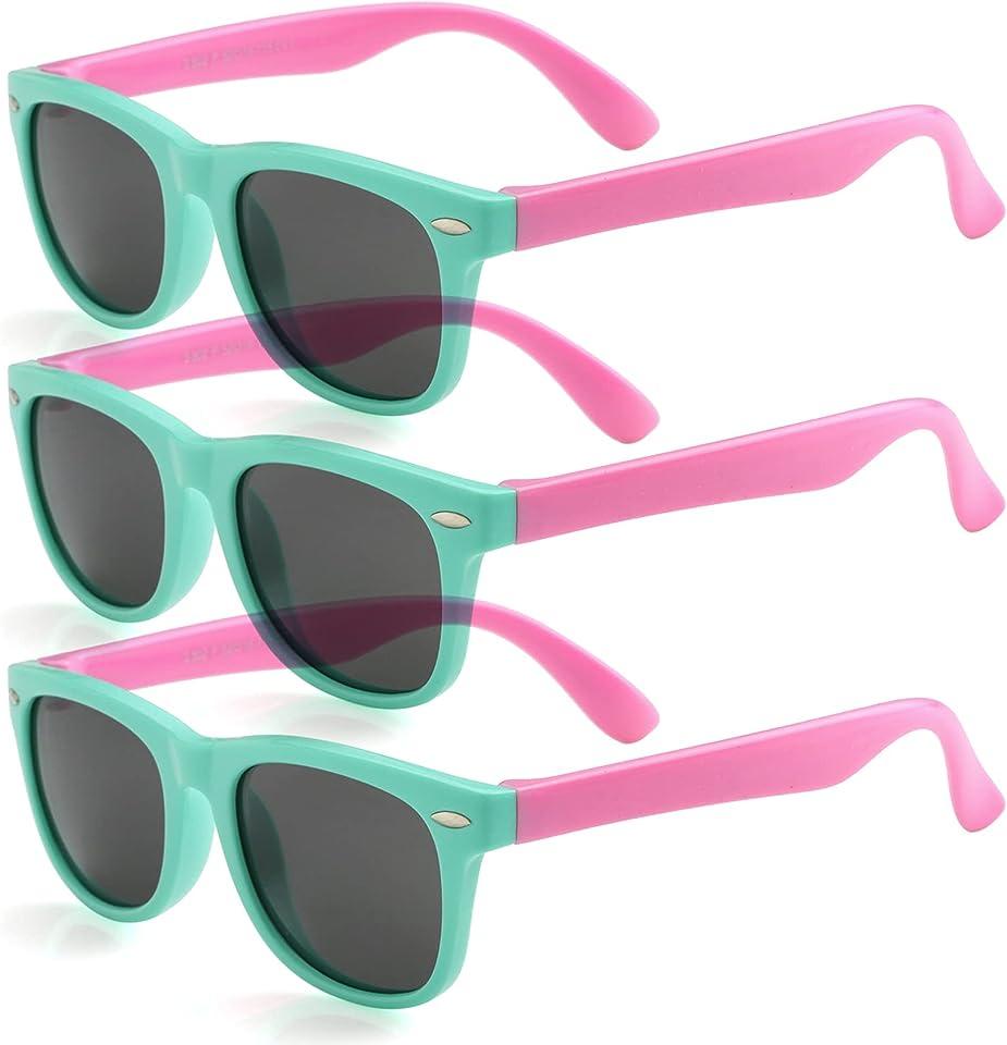 Kids Polarized Sunglasses for Boys Girls TPEE Rubber Flexible Frame Shades Age 3-12