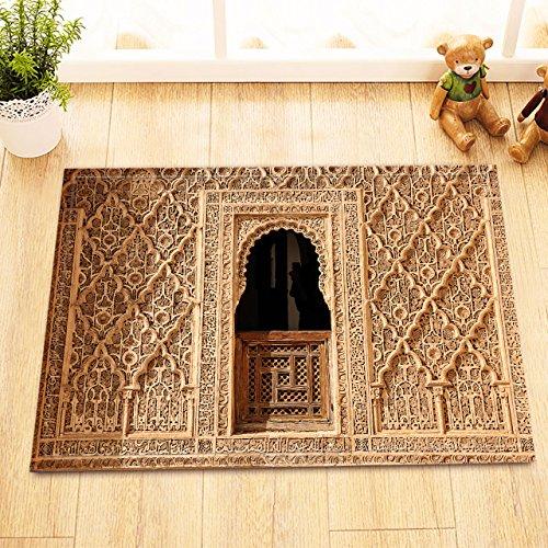 Marruecos,Marrakech,Ventanas,Patrones geométricos_Alfombra de baño,40 L X 60 W CM