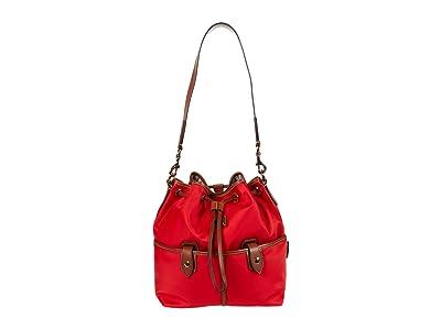 Dooney & Bourke Wayfarer Large Drawstring (Red) Handbags