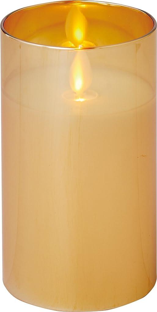 昼寝放射能講義illumine イルミネシャイングラス入りLEDキャンドルM ゴールド