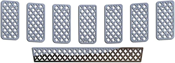 Ferreus Industries Polished Stainless Diamond Mesh Grille Grill Insert Trim fits: 2011-2013 Jeep Grand Cherokee TRK-142-04