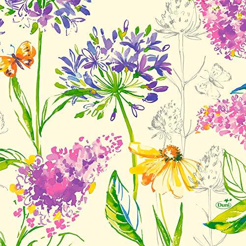 Duni Zelltuch Servietten Sweet Spring 33x33 cm 250 Stück, Duni Servietten Frühling