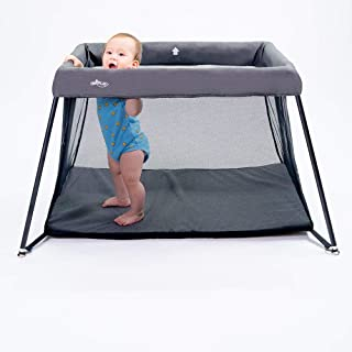 Portable Playard by UniPLAY | Lightweight Playpen & Travel Crib for Infants, Babies & Toddlers | Indoor & Outdoor Use | Baby-Safe & ASTM Certified | Waterproof | Carrying Case Included | 8.8 Lbs
