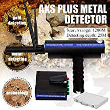 TUQI AKS Handhold Metal/Gold/Diamond Detector 3D 1200m Long Range Scanner Finder Depth:25M (Black)