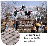 Red de escalada de parque de atracciones, de cáñamo, para decoración de interiores, red anticaída, con carga máxima al parque infantil, 16 mm / 15 cm, varios tamaños, 3*5m