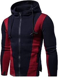 Mogogo Mens Hood Fit Contrast Plus Size Hooded Sweatshirt for Fitness