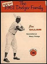 Baseball MLB 1961 Union Oil Family Booklets #8 Jim Gilliam