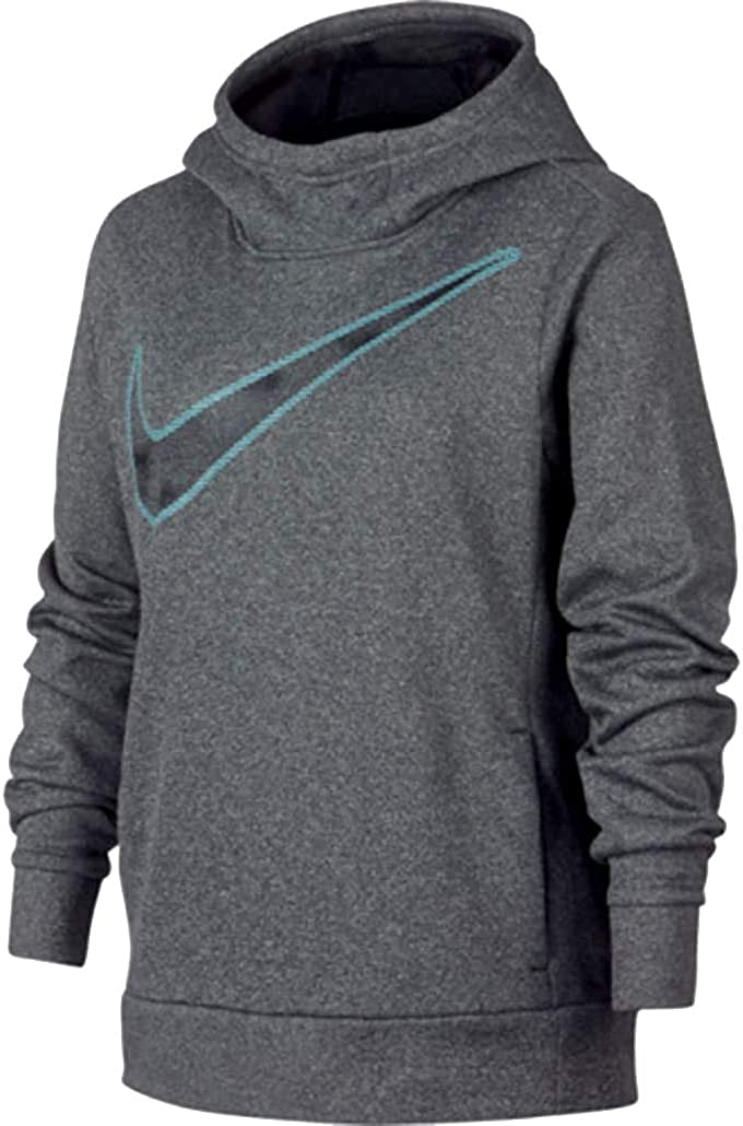 Nike Youth Girls 8-18 Athletic Pullover Therma Hoodie Grey CJ4368 032