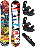 Airtracks Snowboard Set - Board Graffiti Wide 159 - Softbindung Star XL - SB Bag