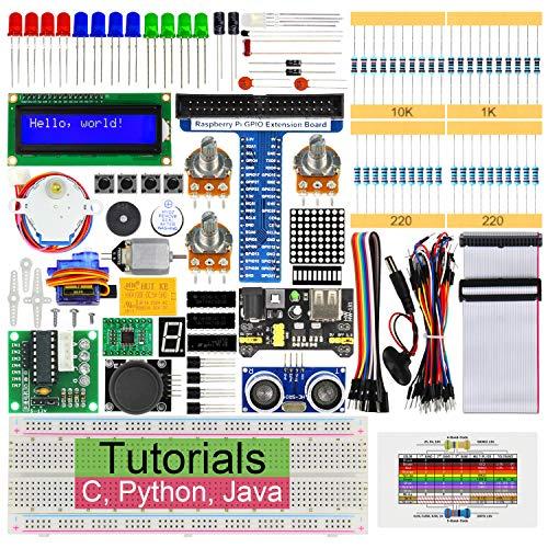 Freenove Ultrasonic Starter Kit for Raspberry Pi 4 B 3 B+ 400, 358-Page Detailed Tutorials, Python C Java Code, 171 Items, 47 Projects, Solderless Breadboard
