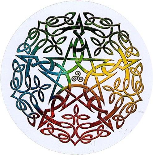 Elemental Celtic Pentacle - Bumper Sticker / Decal (4.5' Circular)