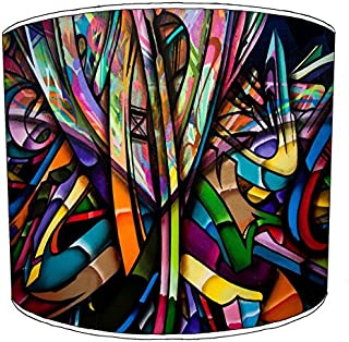 Premier Lighting 30cm Graffiti Art de Rue abat-jour12 pour Une Lampe de Table