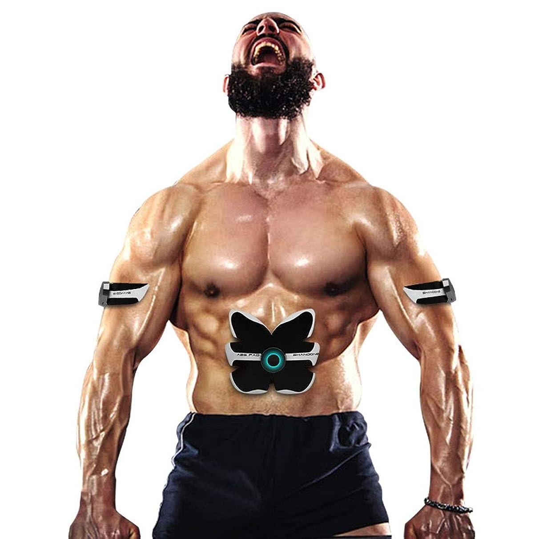 下位とテンポスマートabsトレーニングギア女性男性減量痩身ボディシェイパー腹部筋肉運動刺激装置フィットネス振動機