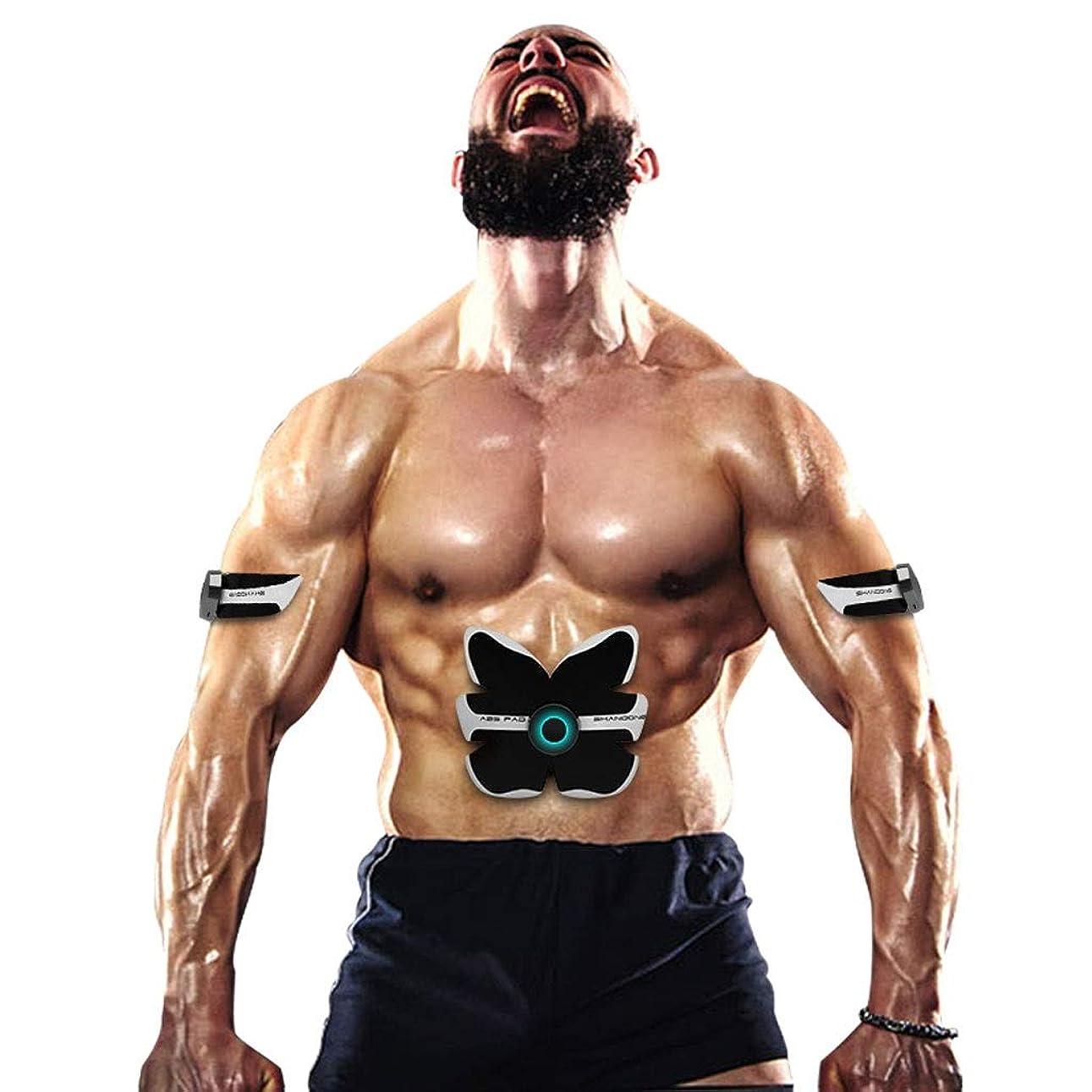懲戒音楽隔離するスマートabsトレーニングギア女性男性減量痩身ボディシェイパー腹部筋肉運動刺激装置フィットネス振動機
