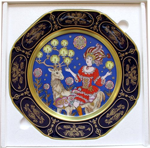 Hutschenreuther Weihnachtsteller Ole Winther Kobaltblau (1978)