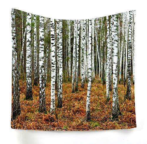 xkjymx Hängende dekorative Dekotuch Walddruck Tapisserie Bild 2 100x75cm