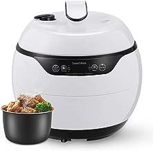 Smart Pressure Cooker, Non-stick Pot Multi-Use, 24h Preset Warmer,Steamer, Rice Cooker, Family-White (4L)