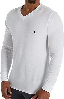 Polo Ralph Lauren Lightweight Waffle Long Sleeve V-Neck Sleep Shirt (PW71FR)