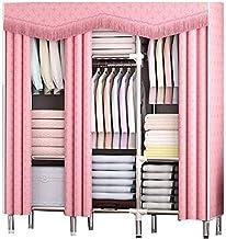 Portable Wardrobe Canvas Portable Large Wardrobe Free Standing Clothes Storage Organizer Save Space Clothing Storage Cabin...